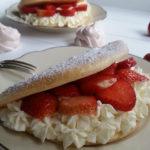 Schaum-Omelette mit Erdbeeren