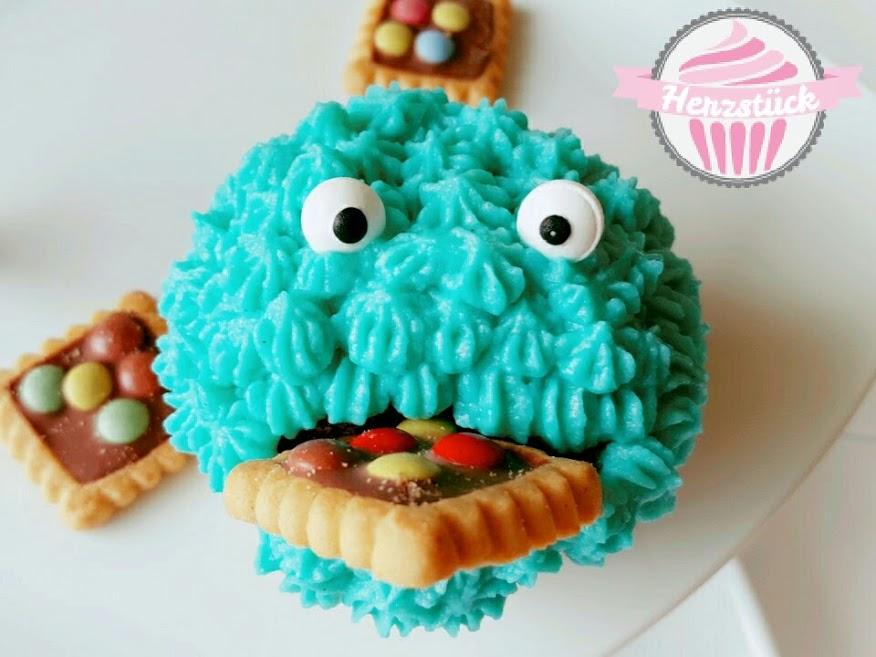 Krumelmonster Cupcake Herzstuck