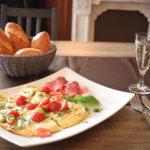 Tomaten-Mozzarella-Omelett