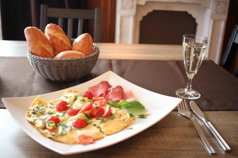 Tomate-Mozzarella-Omelett