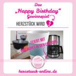 Happy Birthday, Herzstück · Gewinnspiel
