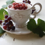 Kokosmilchreis mit Weintraubensoße