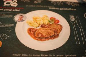 Platzset, Boardrestaurant ICE