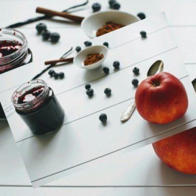 Heidelbeer-Apfel Marmelade mit Vanille und Zimt