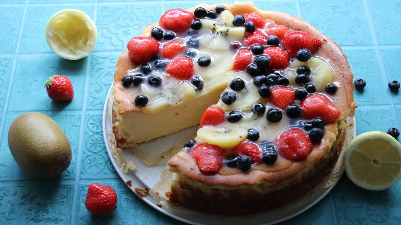 Käse-Obst-Torte