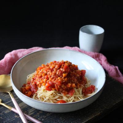 Linsen-Bolognese