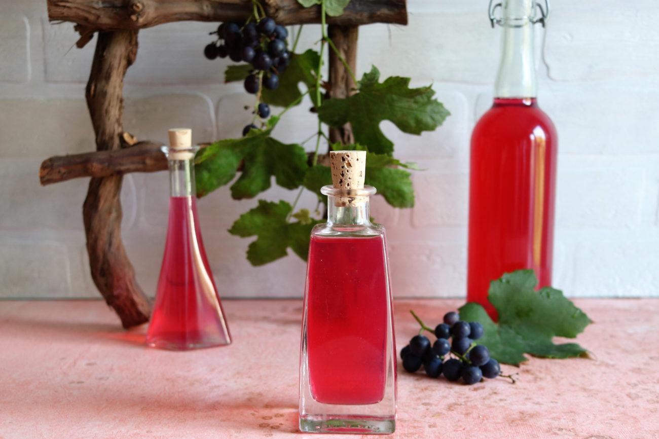 Weintrauben Essig selber machen