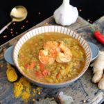 Garnelen-Curry mit roten Linsen und Paprika | mit WW Punkte Angabe